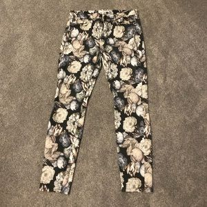 7 for all mankind floral jeans.